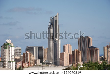 The city Benidorm on the Costa Blanca (Spain)