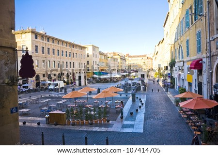 the city centre in Marseille , France - stock photo