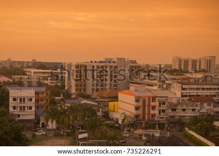 the city centre of Udon Thani in the Isan in Northeast Thailand, thailand, udon thani, november, 2016. ..