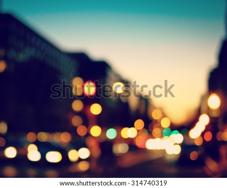 The city lights - stock photo