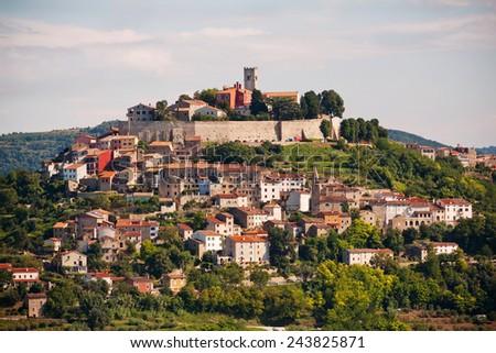 The city Motovun - Istria - Croatia - stock photo