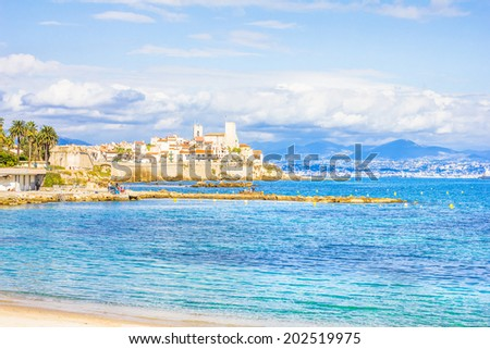 The city of Antibes, south of France - stock photo