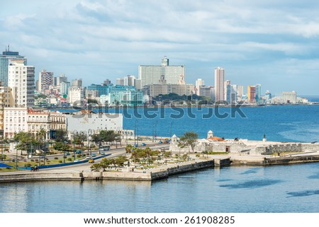 The city of Havana on a beautiful summer day - stock photo