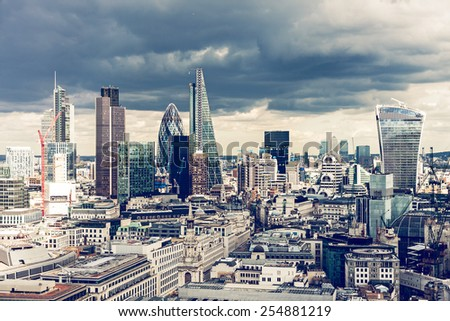 The City of London  - stock photo