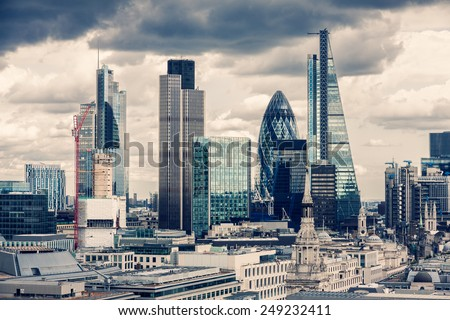 The City of London, Cross Process  - stock photo