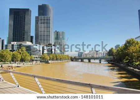 The city of Melbourne, Australia - stock photo