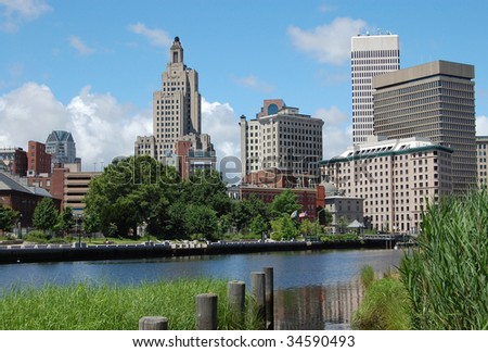 The city of Providence, Rhode Island - stock photo
