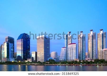 The city of the bangkok - stock photo