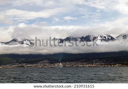 The city of Ushuaia, considered the 'End of the World.'