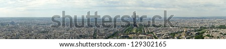 The city skyline at daytime. Paris, France. Taken from the tour Montparnasse - stock photo