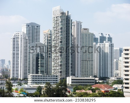 The City view of Bangkok, Thailand  - stock photo