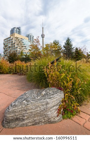 The cityscape of Toronto , Ontario , Canada - stock photo