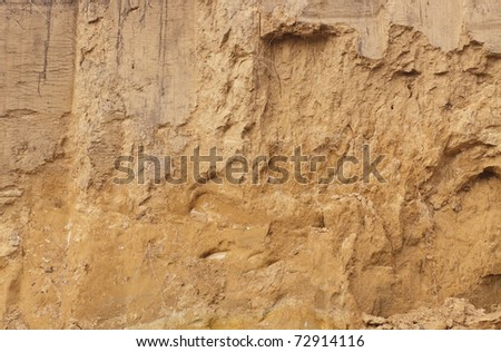 The clay wall. Background. - stock photo