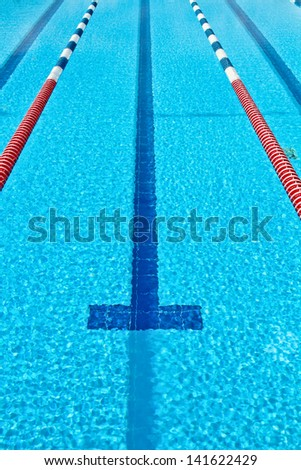 The cleaned  and clear pool - stock photo