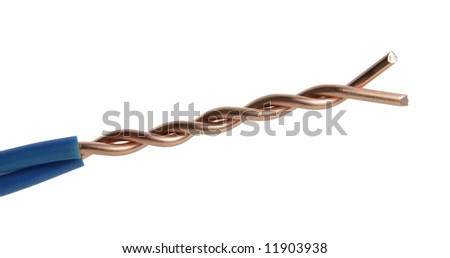 The cleared braided electric power cable
