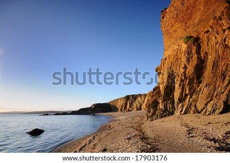 The cliff of coast of Ireland - stock photo