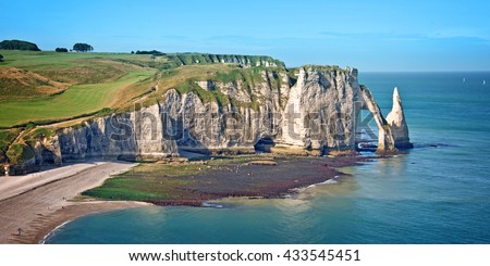 The cliff of Etretat, Normandy, France