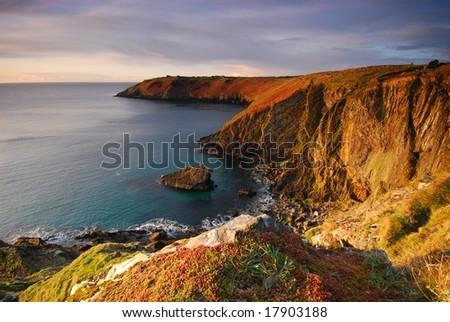The cliffs of coast of Ireland - stock photo