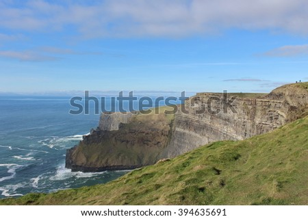 The Cliffs of Moher, County Clare Wild Atlantic Way, West Ireland - stock photo