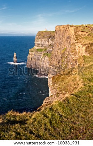 The Cliffs of Moher  in County Clare - Ireland. - stock photo