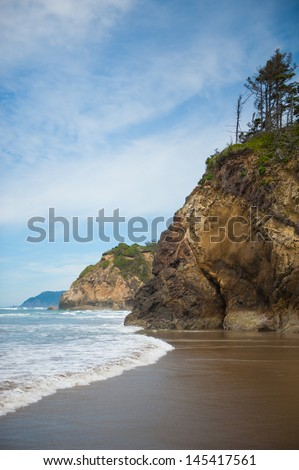 The cliffs of the Oregon Coast - stock photo