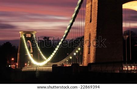 The Clifton Suspension Bridge - stock photo