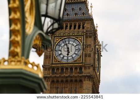 London Big Ben Historical Old Construction Stock Photo 403991014 ...