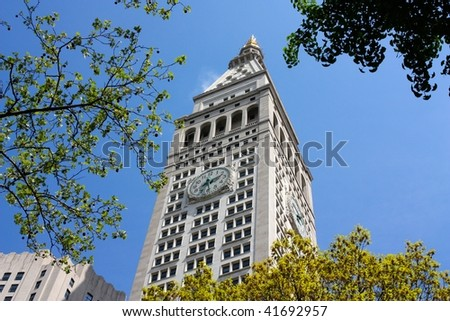 The Clock Tower in Madison Square Garden, Manhattan, New York - stock photo