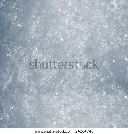 The close frozen snow surface. - stock photo
