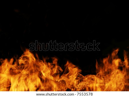 The close-up of a flame for a background - stock photo