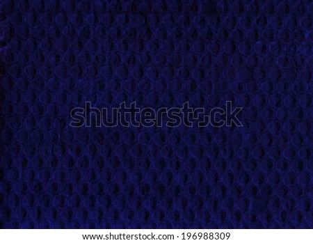 The close up of blue bubble warp background - stock photo