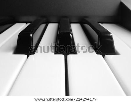 The close up of piano key - stock photo