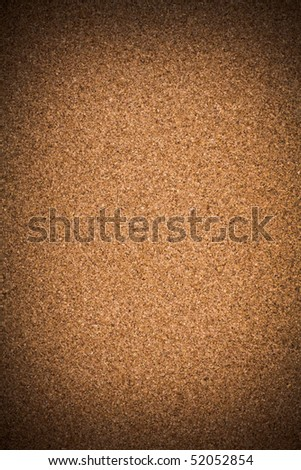 The close up of the dark cork board - stock photo