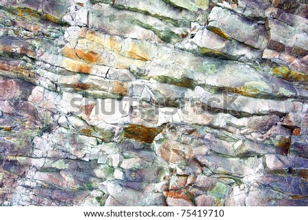 The close-up relief of the rocks - stock photo