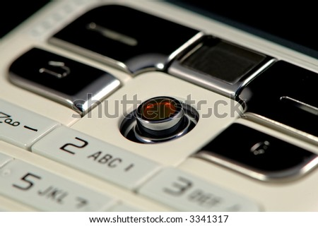 The close up shot of mobile keypad