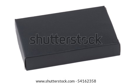 The closed black box is isolated on white - stock photo