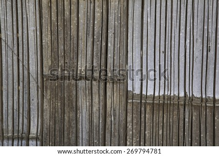 The closeup of bamboo fence - stock photo
