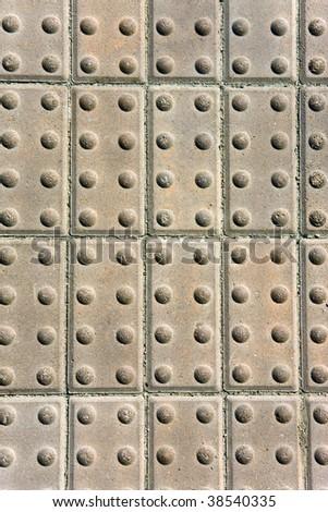 the closeup of stone sidewalk - stock photo