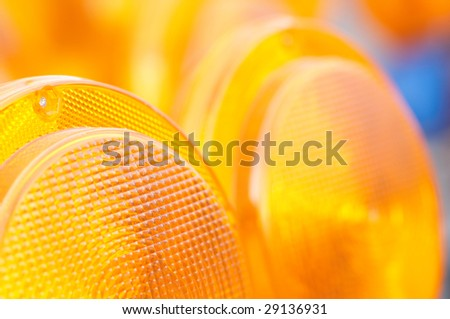 The closeup of the reflector - stock photo