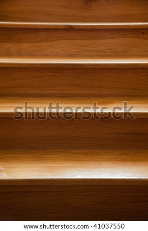the closeup of wooden stairs