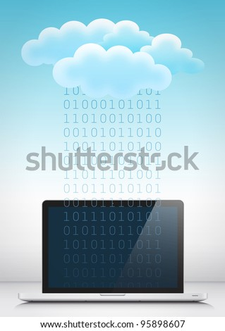 The cloud 3 - stock photo