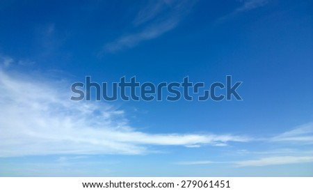 The cloud is on the blue sky - stock photo