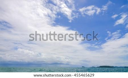 the cloud on sea - stock photo