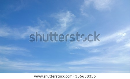 The cloud on sky - stock photo