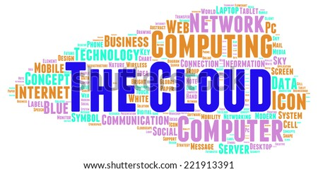 The Cloud word cloud shape concept