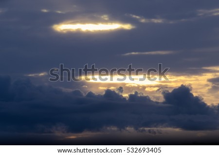 The clouds in evening