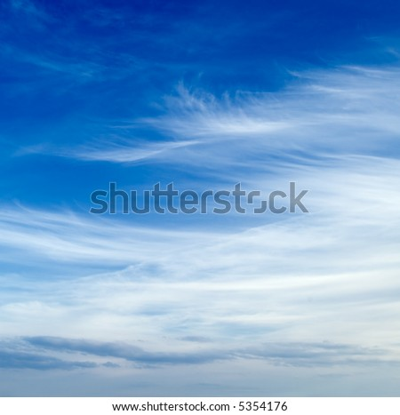 The clouds on the sky. - stock photo
