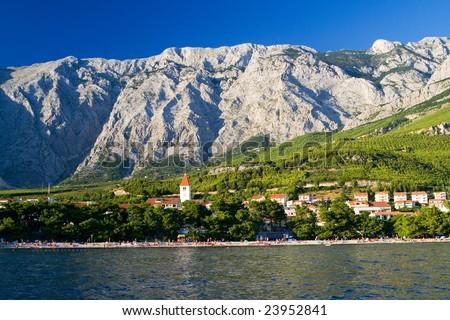 the coast in Promajna - Croatia - stock photo