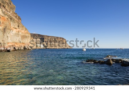 The coast of Atlantic ocean, Gran Canaria, Canary islands, Spain
