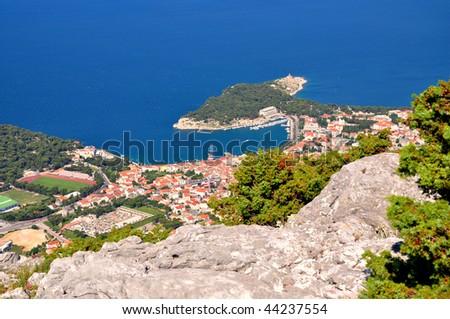 The coast of city Makarska Croatia - stock photo